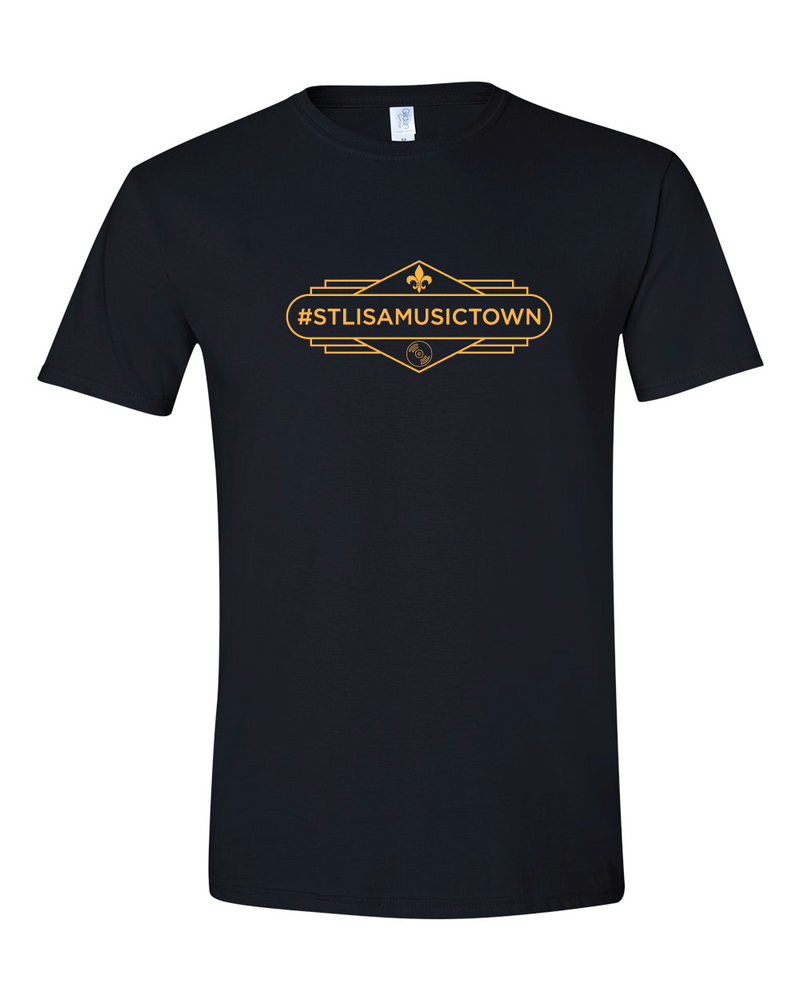 STL IS A MUSIC TOWN Gaslight T-Shirt