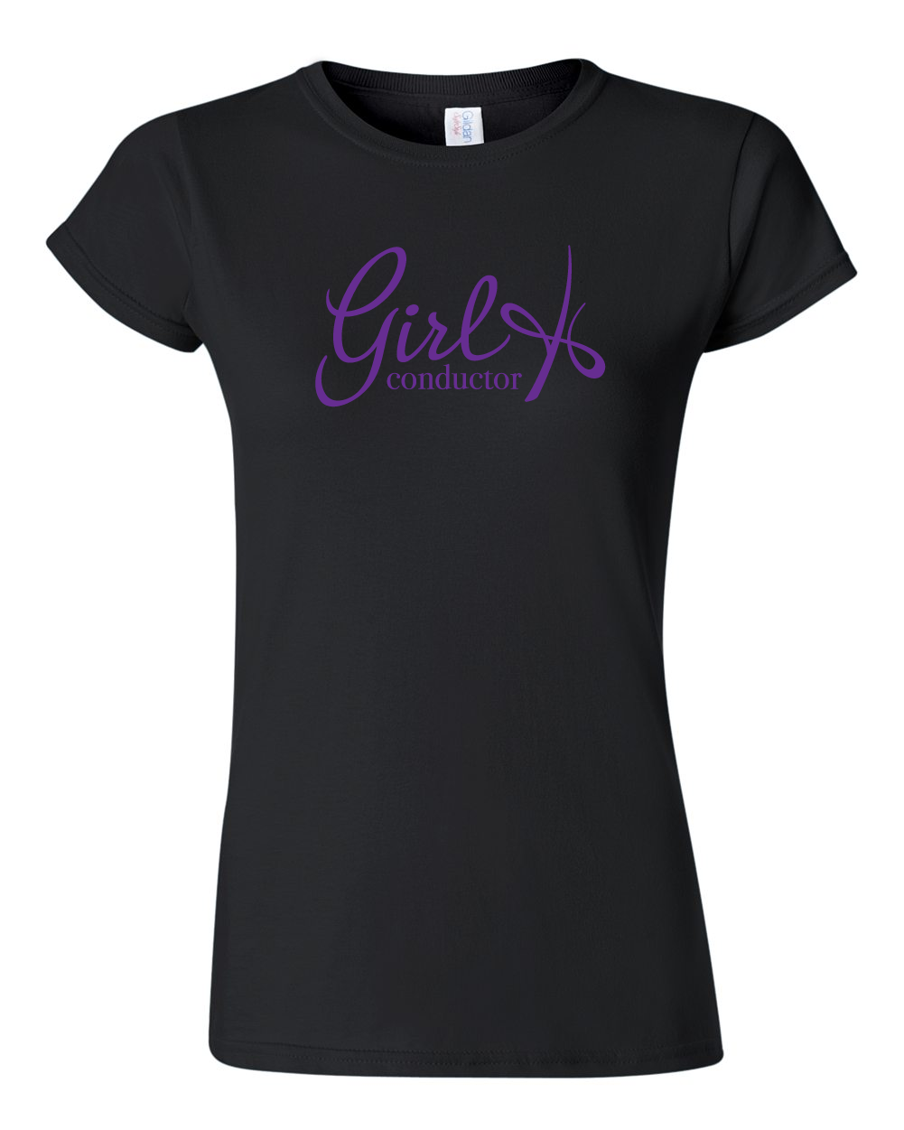 Girl Conductor Ladies Tee - Black