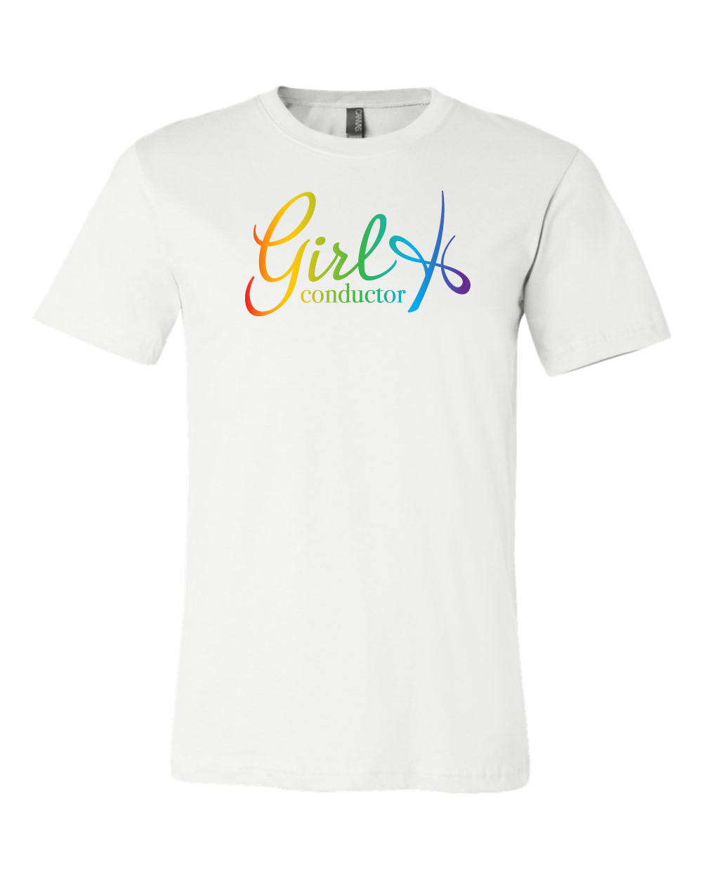 Girl Conductor Unisex Tee - White