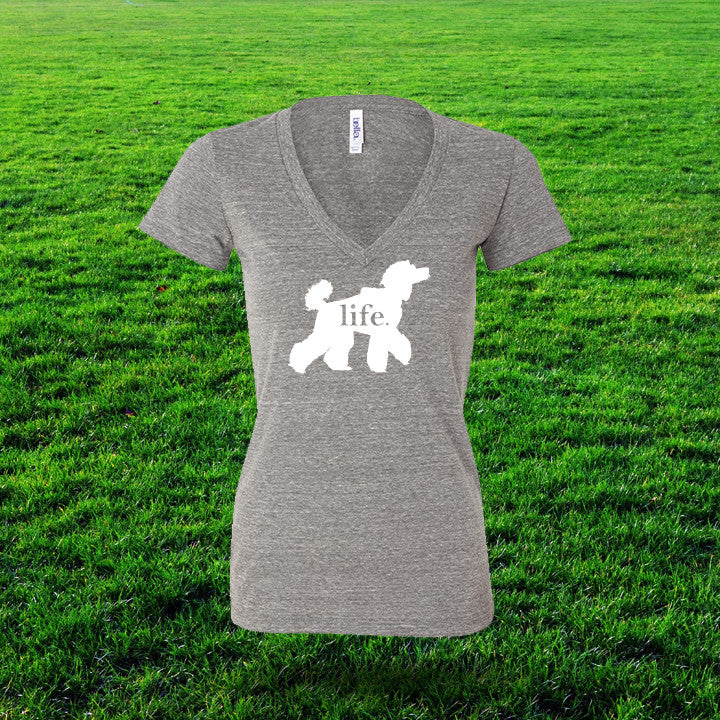 Poodle 'Dog Life' Life Ladies T