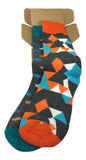 Men's Haberdashery Dress Socks - Mustache Socks - Funky Fun Colorful Socks 2 Set