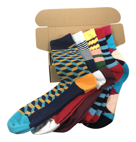 5 Pairs Men's Power Socks - Southwest Collection