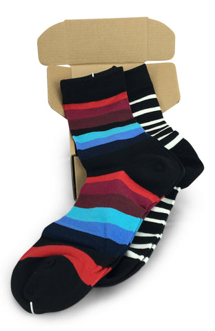 2 Pairs Men's Power Socks - Stripe Nation