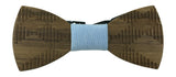 Premium Wooden Creative Handmade Bowtie with Matching Cotton Mens Blend Sock