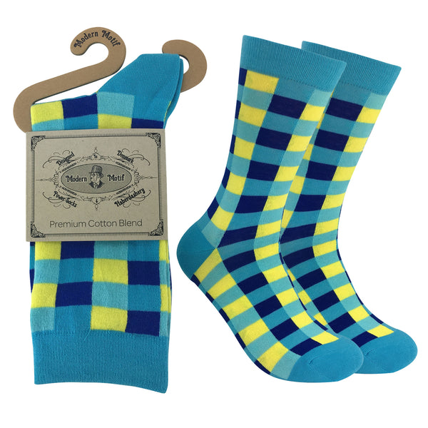 Mens Colorful Cotton Fun Casual Fashion Stripe Socks Collection-Single Pairs