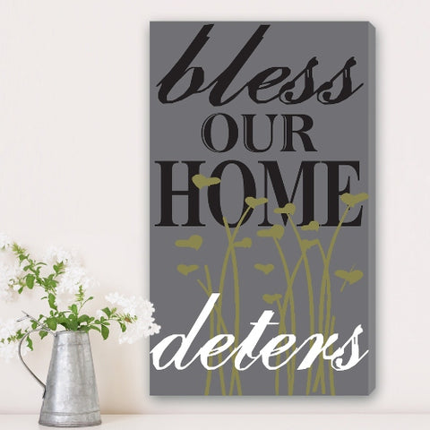 "14""x24"" Canvas - Bless Our Home"