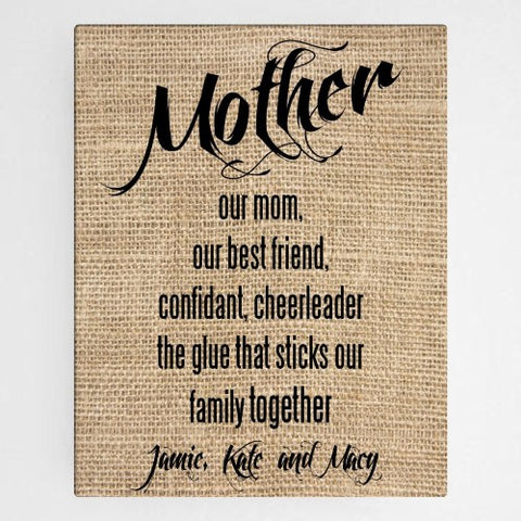 "18""x24"" Mother Canvas Sign"