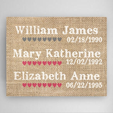 "18""x24"" Our Kids Canvas Sign"