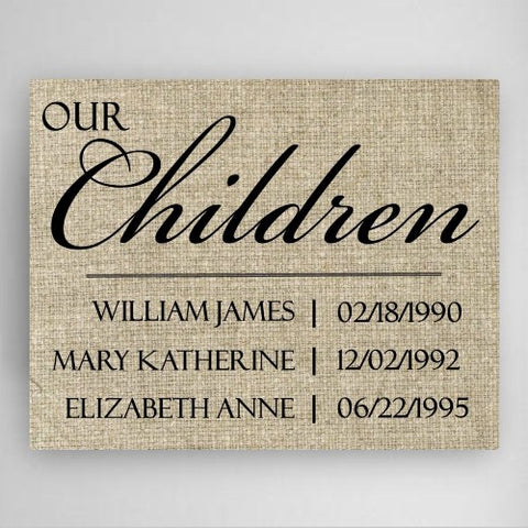 "18""x24"" Our Children Canvas Sign"