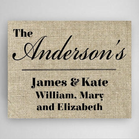 "18""x24"" Our Family Canvas Sign"