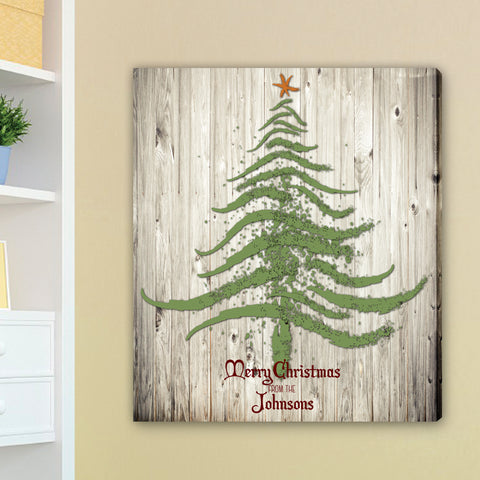 "18""x24"" Vintage Christmas Tree Canvas"