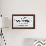 Welcome To our Home Modern Farmhouse 14 x 24 Canvas