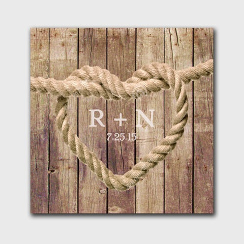 "18""x18"" Personalized Knot Canvas Sign"