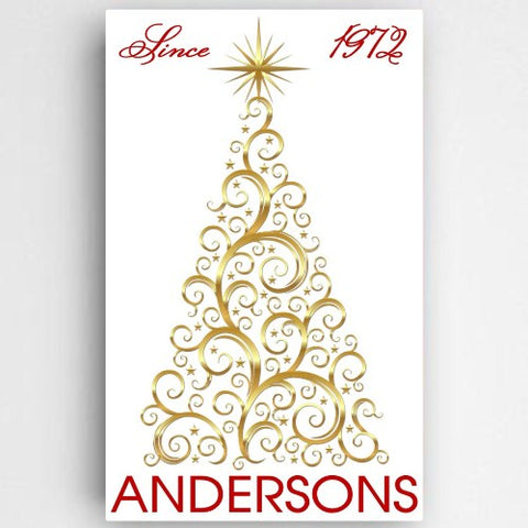 "14""x24"" Christmas Tree Canvas Sign"