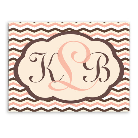 "18""x24"" Baby Chevron Canvas Sign"