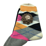 Premium Wooden Lapel Pin with Matching Cotton Blend Sock