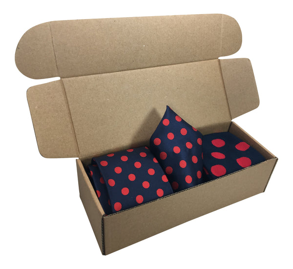 3 Piece Matching Set Necktie,Pocket Square and Power Sock Gift Box Combo