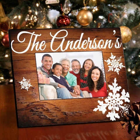 Family Snowflakes Picture Frame
