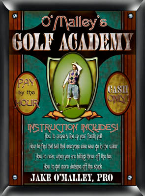 Golf Academy Plaque - Available in 3 Quotes