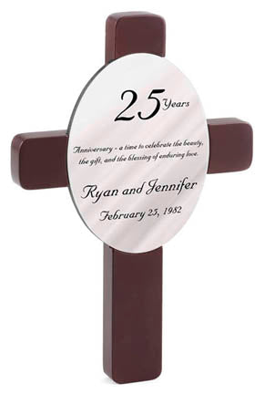 Personalized Oval Wedding Cross - Available in 12 Designs