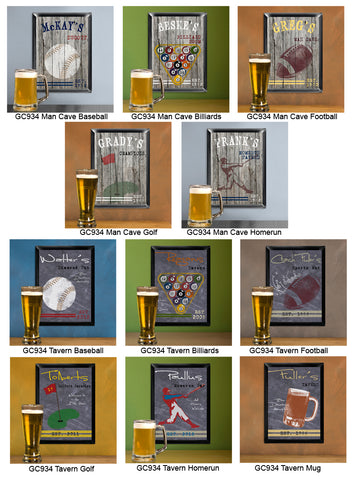 Traditional Sports Man Cave Pub and Tavern Signs