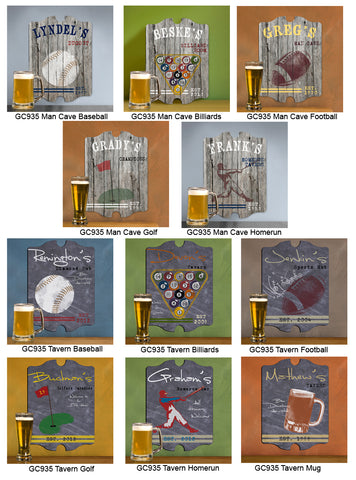 Vintage Sports Man Cave Pub and Tavern Signs