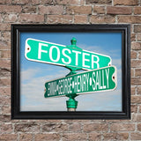 Personalized Color Street Sign Frame
