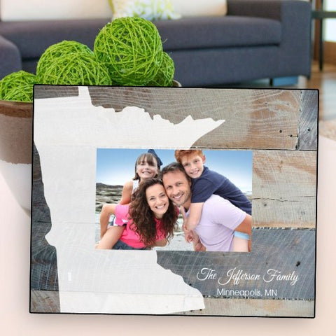 Personalized Souvenir State Picture Frame