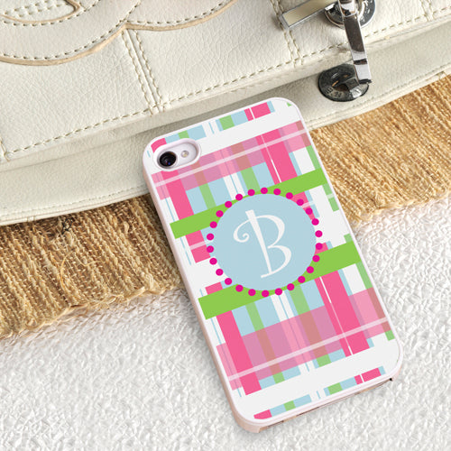 Personalized White Trimmed iPhone Cover