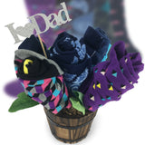 Happy Father's Day Sock Bouquet-5 Pairs of Men Gift Socks-I Love Dad Message