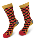 Mens Colorful Funky Fun Casual Fashion Socks  Collection- Single Pairs