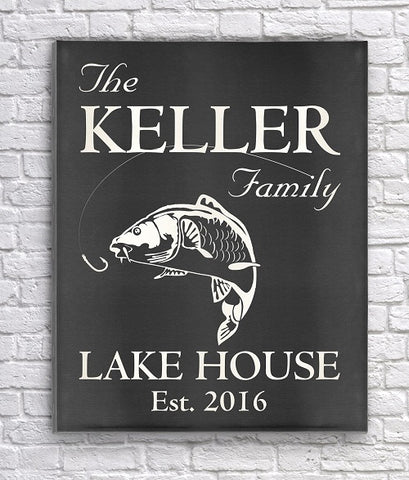 Canvas Print for a Family Lake Home