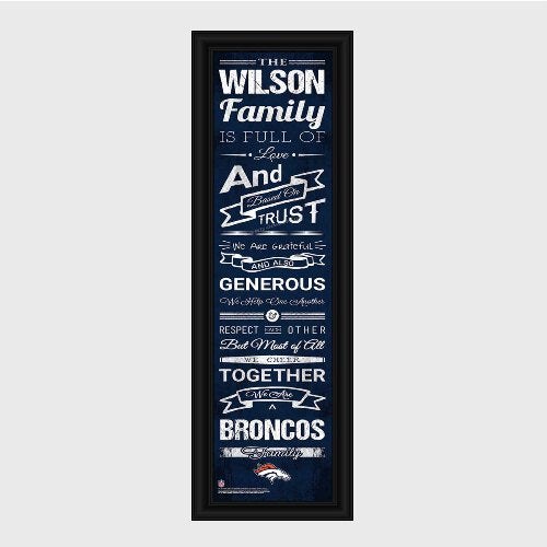 NFL Family Cheer Print and Frame