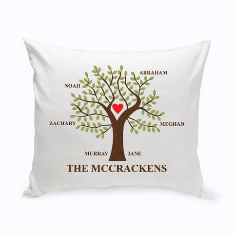 16x16 Family Tree Throw Pillow