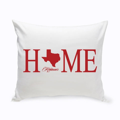 16x16 Home State Throw Pillow