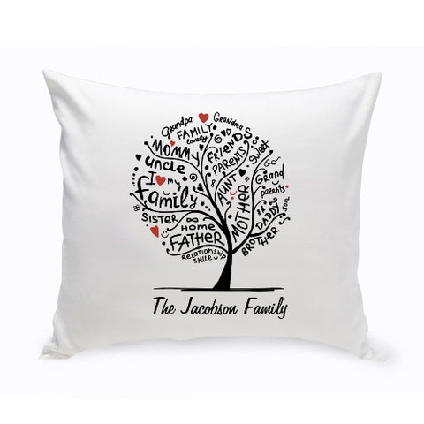"16"" x 16"" Family Roots Throw Pillow"