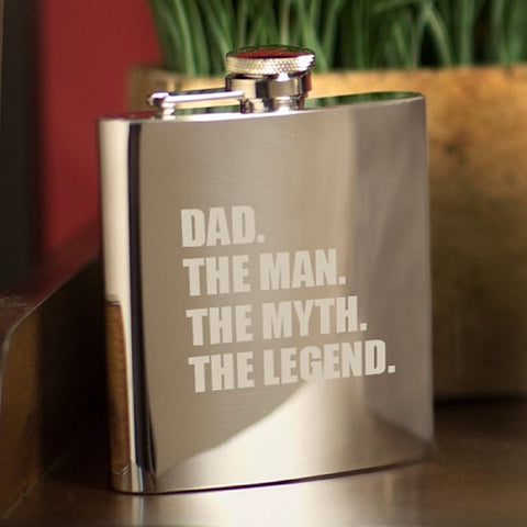Man Myth Legend 7 oz. Mirror Flask