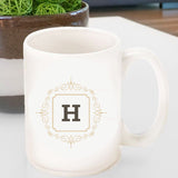 Initial Motif Coffee Mugs
