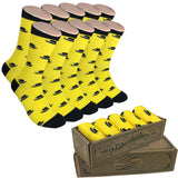 5 Pair Men Matching Fashion Dress Socks Gift Box-Groomsmen Weddings Party Socks