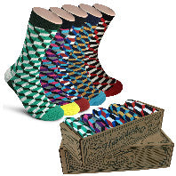 9fd23a97015d Men Novelty Fashion Dress Socks-5 Pair Fancy Power Sock-Fun Colorful T