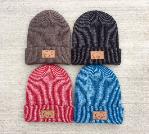 Leather Branded Beanie