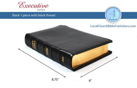 "110E1B RL Hand Size Text Center Column Reference Black 1 Piece (Executive) ""Red Letter"" - Bibles from Heartland Baptist Bookstore"