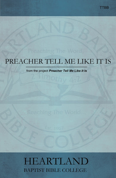 Preacher Tell Me Like It Is Sheet Music