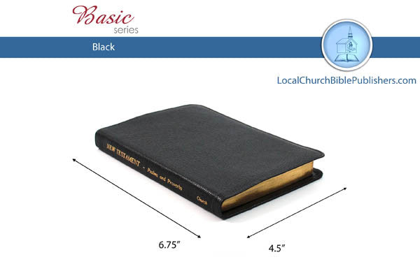 135 Pocket New Testament with Psalms & Proverbs (Black) - Bibles from Heartland Baptist Bookstore