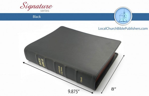 165S1B Super Giant Print Text Black - Bibles from Heartland Baptist Bookstore