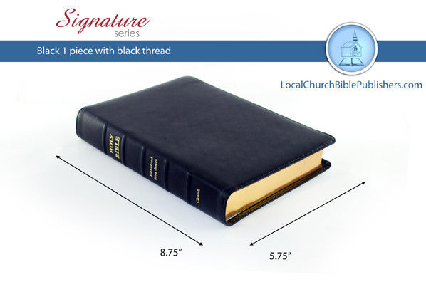 BIB Church 180S1B Handsize Black Calfskin - Bibles from Heartland Baptist Bookstore