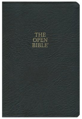 KJV Open Bible, Bonded leather, black