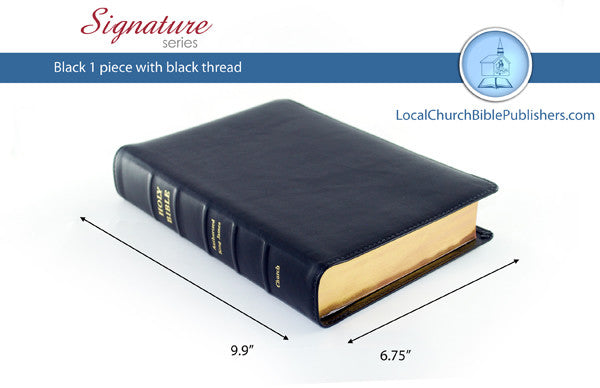 400S1B Mid Size Note Takers Black 1 Piece (Signature) - Bibles from Heartland Baptist Bookstore