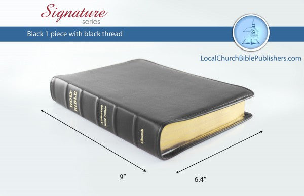 120S1B Mid Size Text Wide Margin Center Column Reference –  Black 1 Piece (Signature) - Bibles from Heartland Baptist Bookstore