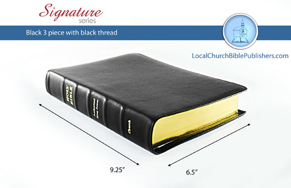 390S1B Mid Size Wide Margin Black 1 Piece (Signature) - Bibles from Heartland Baptist Bookstore